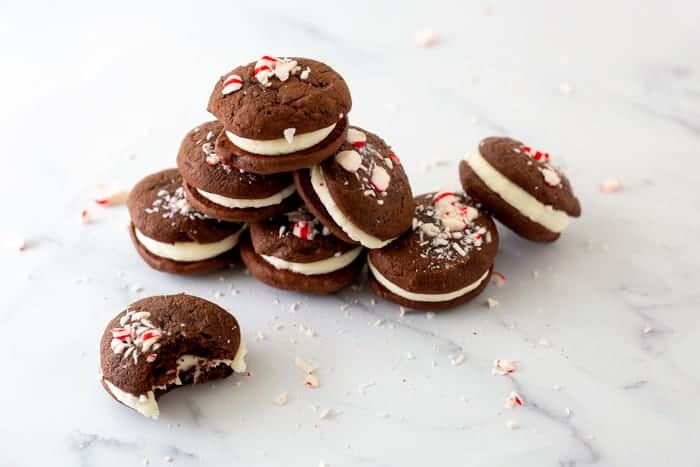 Chocolate and Peppermint Whoopie Pies
