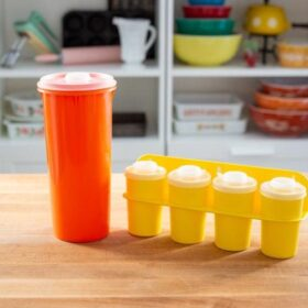 Tupperware spice rack and juice container