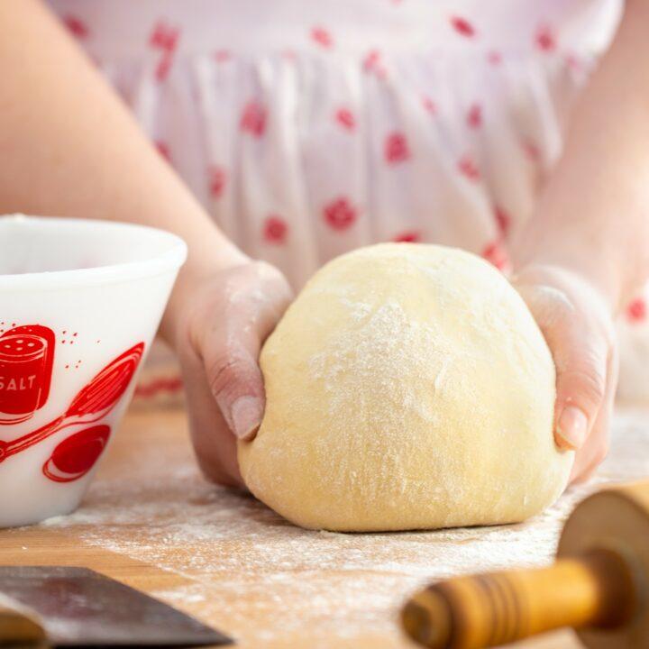 ball of No-Knead Lean Dough