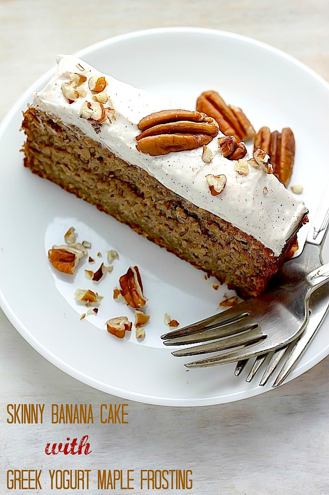 Skinny Banana Cake with Maple Frosting   Baker by Nature Skinny Banana Cake with Maple Frosting