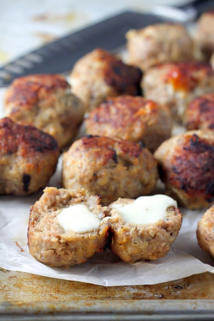 Meatball Recipes Mozzarella Stuffed Turkey Meatballs with Marinara Healthy Dinner Recipe