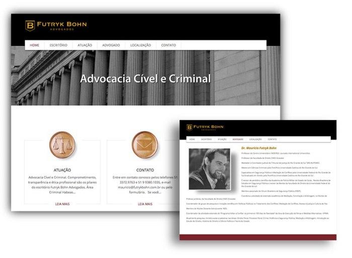 Site para advogado de porto alegre com identidade visual jurídica