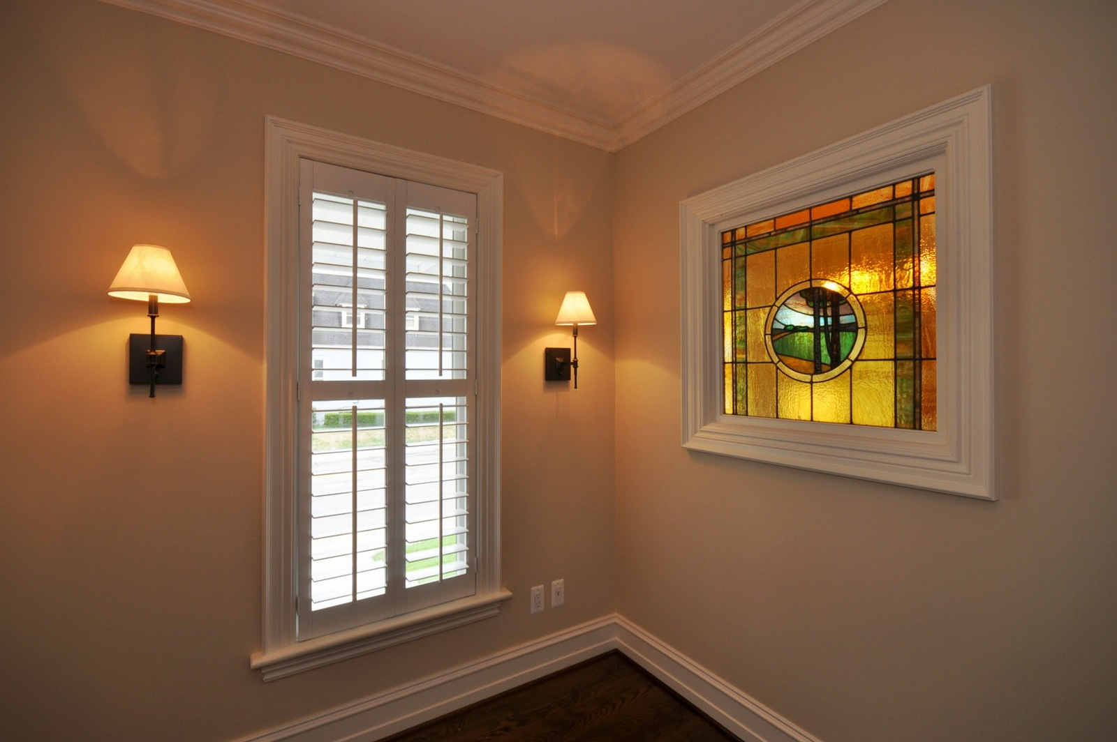 After with Vintage Stained Glass