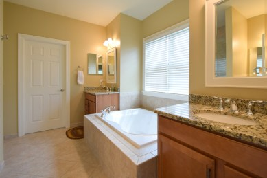 Granite Double Vanity Master Bath