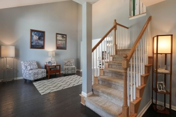 Foyer and Living Room