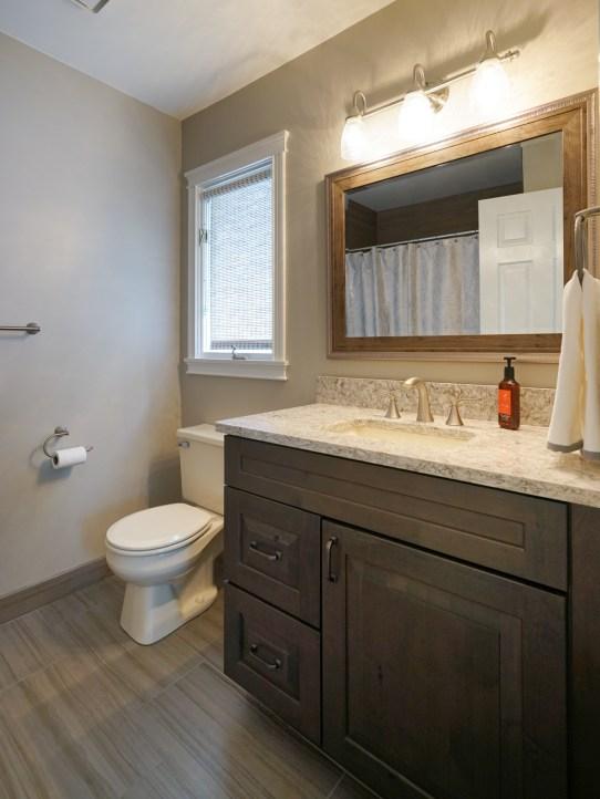Guest Suite Bath Updated 2017, Quartz Countertop