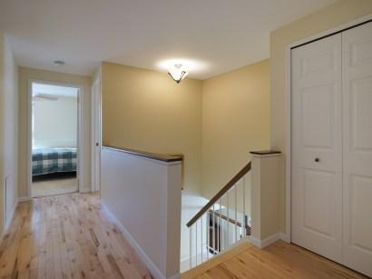 Hardwood floors in upper hall