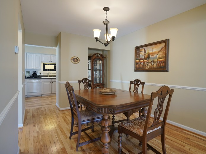 Dining RoomHardwood floors & dual pantries to Kitchen