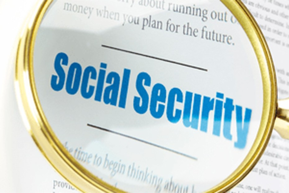 words social security under magnifying glass