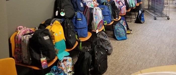 lots of backpacks