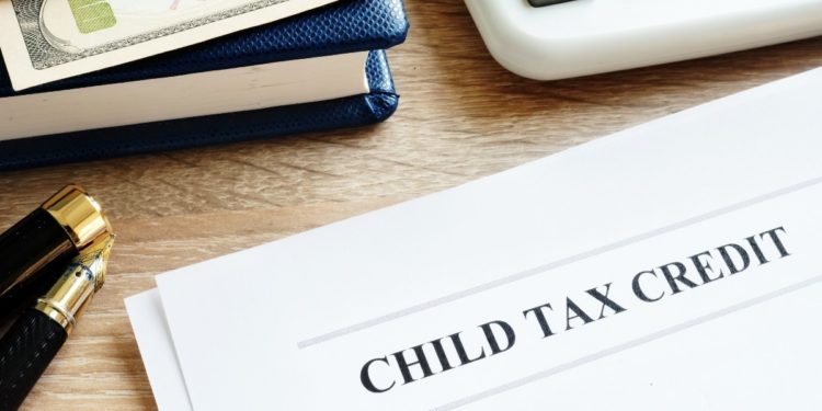 Paper with child tax credit