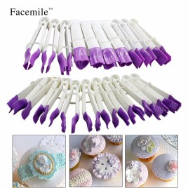 20pcs Flower Shape Lace Edge Clip For Fondant Cake Cutter
