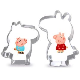 2pcs/set Stainless Steel Pig Cookie Cutters