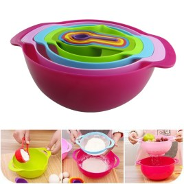 10pcs Measuring spoon Mixing Bowl