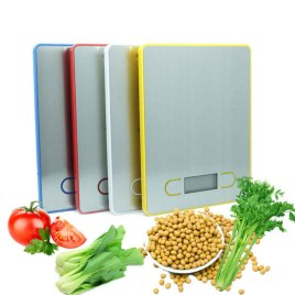 5KG/1g LCD Display Digital Food Scales Blue/ Red/ Silver/ Yellow