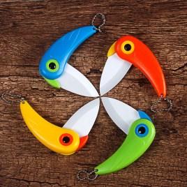 Parrots Ceramic Folding Knife