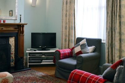 Fireplace and Freeview TV with DVD player