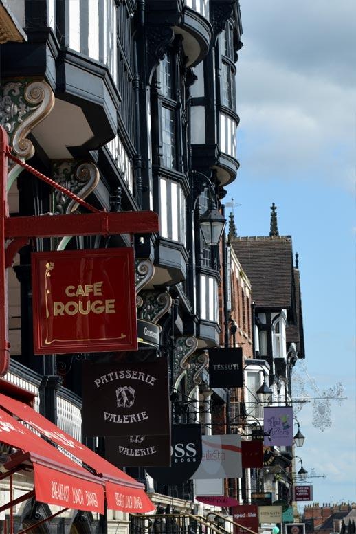 Photo: Chester city centre shopping