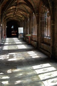 Ancient flagstones in the cathedral cloisters