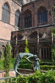 Sculpture in the cloister gardens