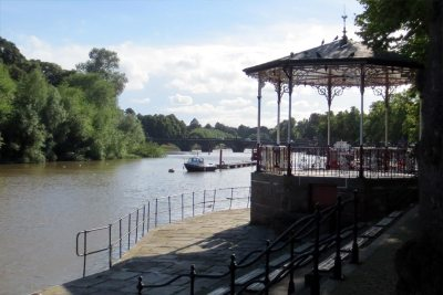 The bandstand on the riverside Groves