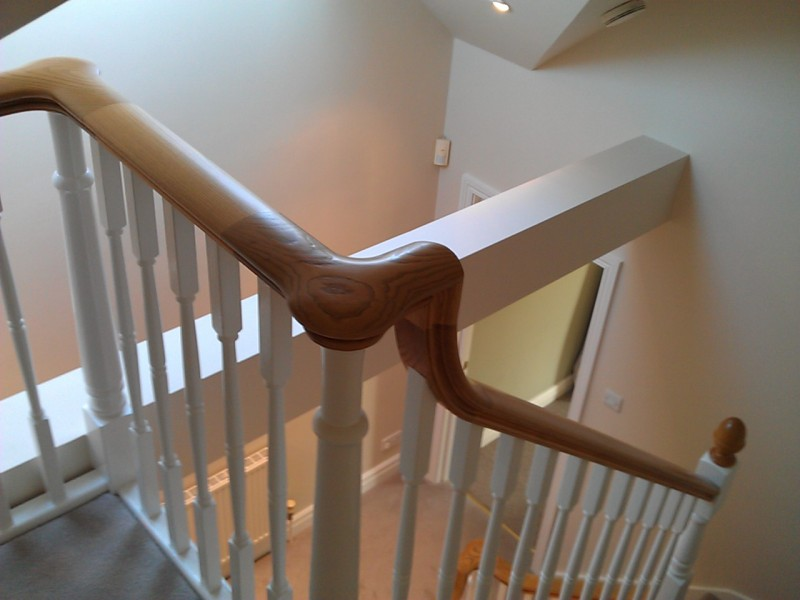 Staircase decorating painting decorating in Ropley Hampshire