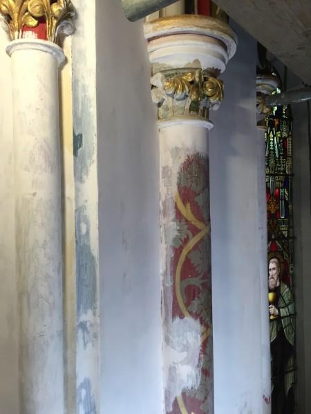Heritage church restoration using lightweight lime plasters