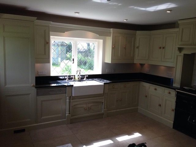 After - Kitchen cabinet preparation and painting in Froxfield near Petersfield Hampshire by Baker Southern Ltd