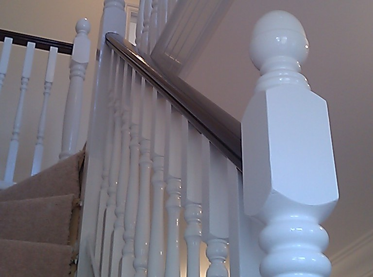 carpentry work staircase fitting in Winchester Hampshire by Baker Southern Ltd specialist contractors