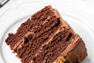 tripe layer chocolate caramel cake