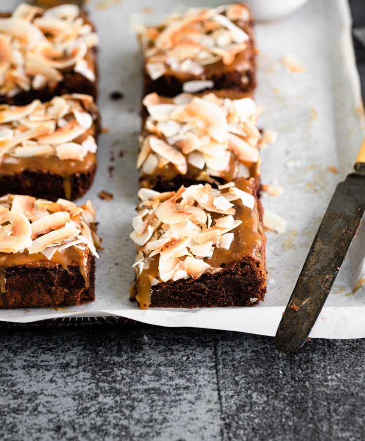 close up of brownie texture