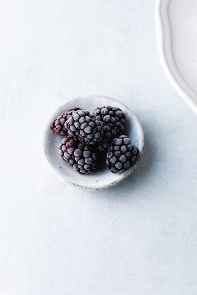 frosted blackberries for garnish