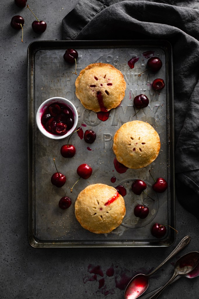 baked cherry almond hand pies