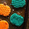 Pumpkin Sugar Cookies with buttercream (uses different decorating techniques)