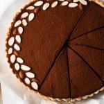 chocolate mousse tart with caramel