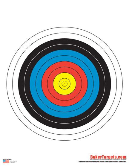 40cm archery bulls eye target