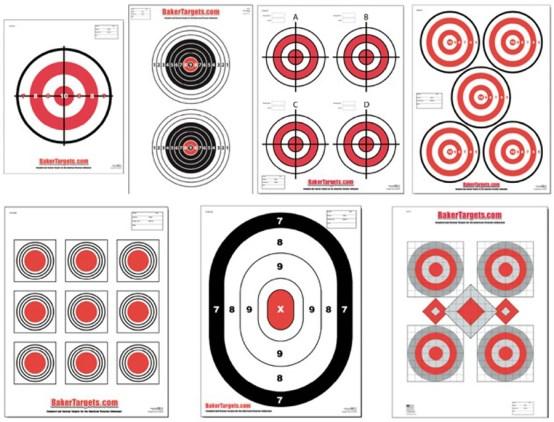 bulls eye target pack