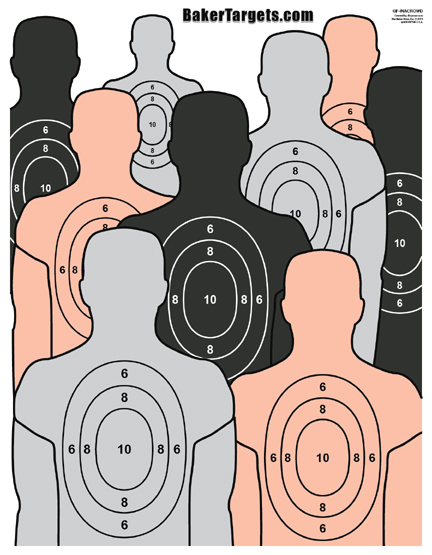 in a crowd target
