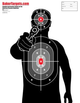 man with gun pro-s target