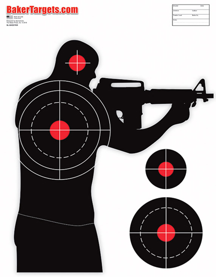 active shooter target