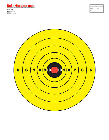 Numbered High-Visibility Yellow Bullseye
