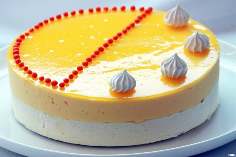 עוגת מוס אננס ווניל
