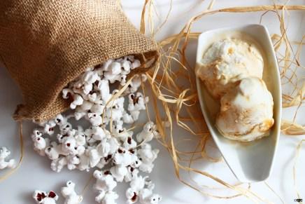 גלידת פופקורן וריפל קרמל