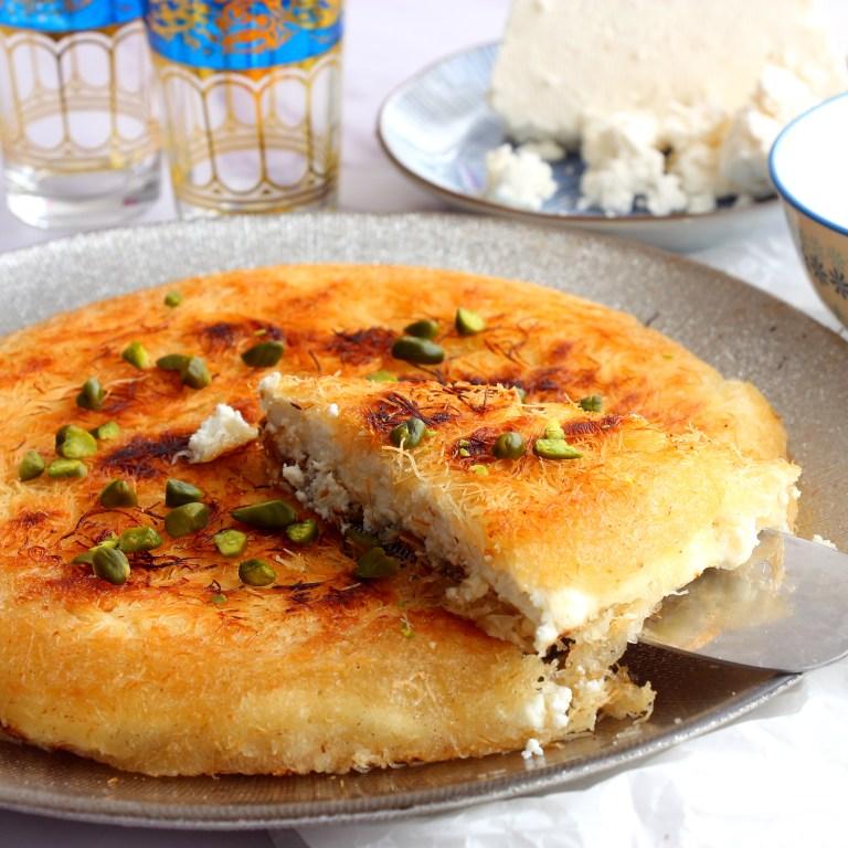 גבינת ג'יבנה וכנאפה טרייה