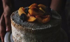 Lemon and Peach layer cake.
