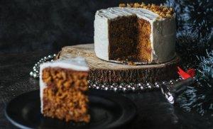 Coffee walnut and caramel cake!
