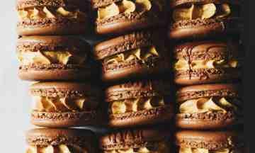 Dark Chocolate and Salted Caramel Macarons