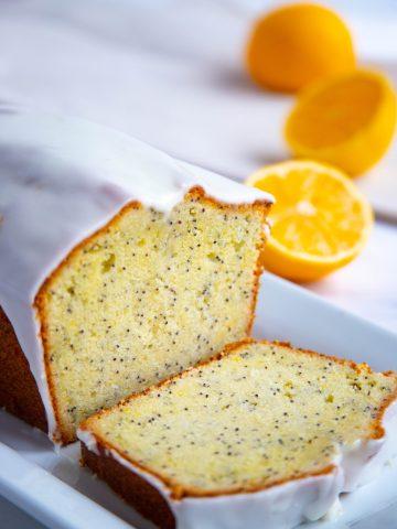 Meyer Lemon Poppy Seed Pound Cake