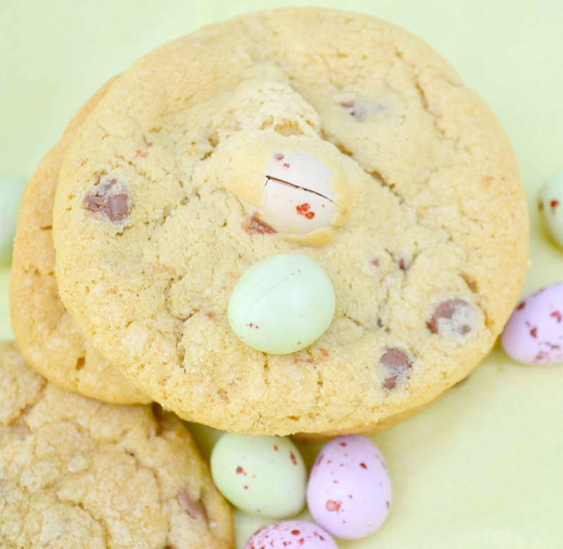 Mini Easter Eggs Chocolate Chip Cookies