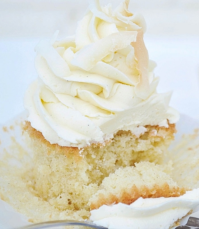 Vanilla Bean Coconut Cupcakes with Vanilla Bean Buttercream